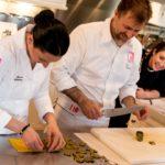 lezioni di cucina chef stellato anche a Stabbia